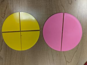 Fraction Circles 2/2 and 4/4