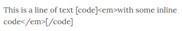 Example of the  shortcode